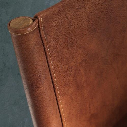 義大利OliverB NORWAY皮革雙人床架 (棕、Standard)