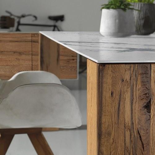義大利Oliver B 陶瓷實木柱腳餐桌 (長200公分)