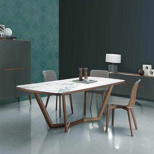義大利Oliver B GIULI陶瓷實木分枝狀餐桌 (長240公分)