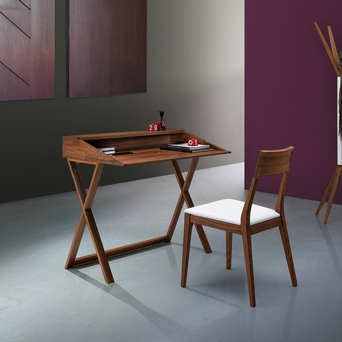 義大利Oliver B CAPRI經典原木餐椅 (白)