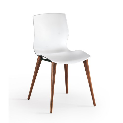 義大利Oliver B EVA貝殼流線弧形餐椅 (白)