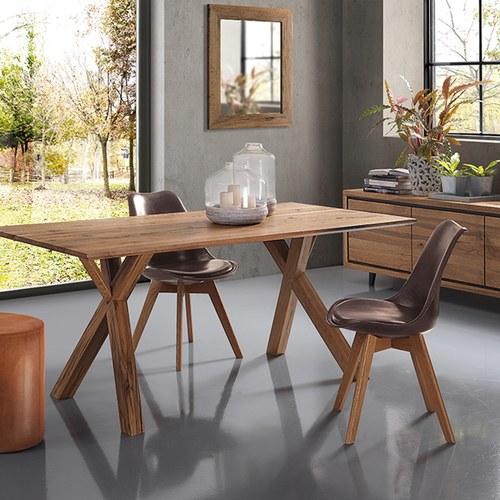 義大利OliverB 枝幹狀桁架實木餐桌 (160x80公分)