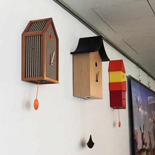 義大利Progetti 格紋房子掛鐘