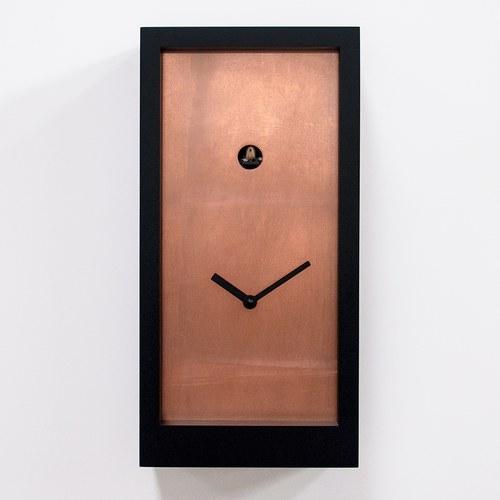 義大利 Progetti 金屬面板盒子咕咕鐘 (紅銅)