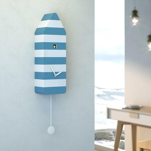 義大利 Progetti 希臘式藍白小屋咕咕鐘
