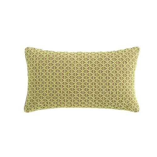 西班牙GanRugs 編織菱格紋長形抱枕 (青綠)