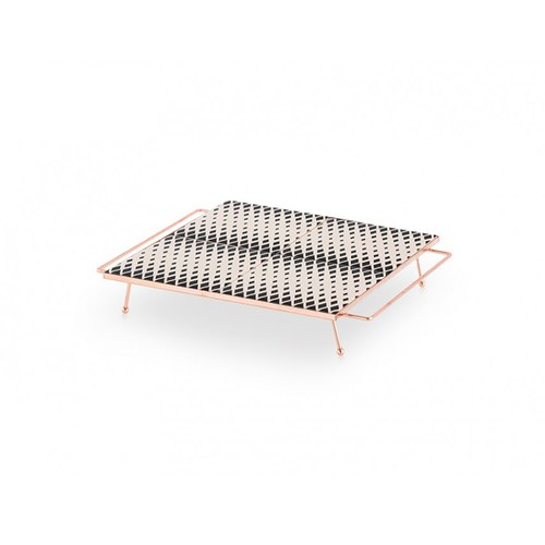 西班牙GanRugs 普普風菱紋高架托盤 (黑白)