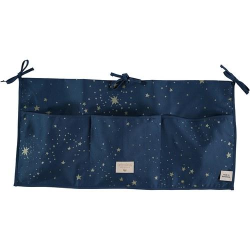 西班牙Nobodinoz 嬰兒床置物袋 (星空藍煙火)