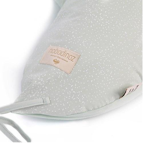 西班牙Nobodinoz有機棉哺乳孕婦枕/月亮枕 (湖水綠泡泡)