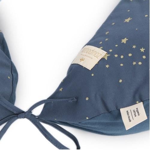 西班牙Nobodinoz有機棉哺乳孕婦枕/月亮枕 (星空藍煙火)