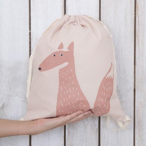 西班牙Nobodinoz有機棉輕巧出遊防水兒童背包 (狐狸)
