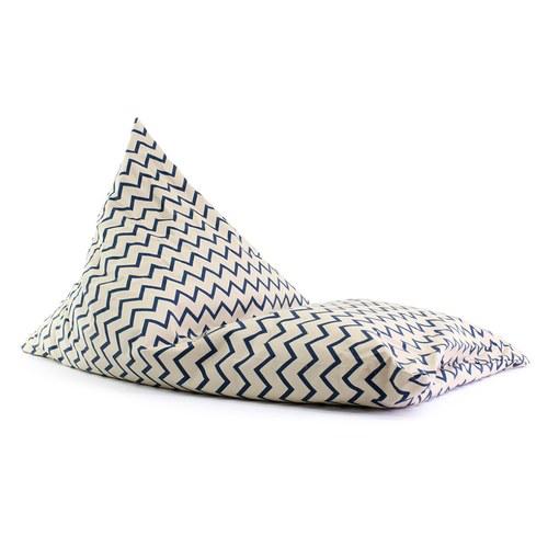 西班牙Nobodinoz 大金字塔群懶骨頭沙發 (鋸齒線條藍)