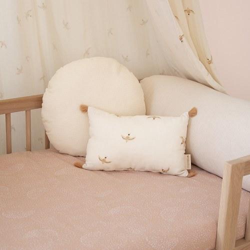 西班牙Nobodinoz有機棉小飛鳥長方形流蘇靠枕