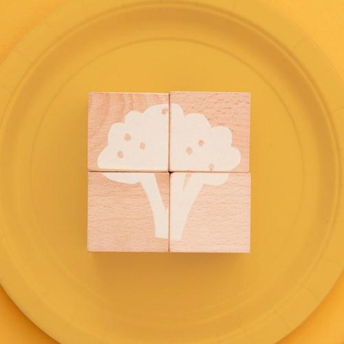 西班牙Nobodinoz 木製配對學習積木 (好吃的蔬菜)