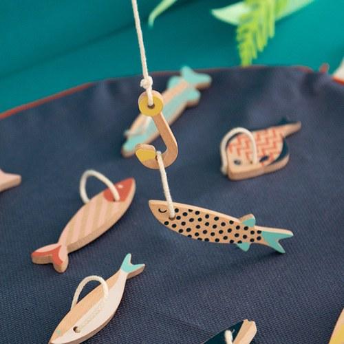 西班牙Nobodinoz 木製小漁夫釣魚組
