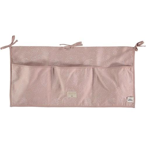西班牙Nobodinoz 嬰兒床置物袋 (迷霧粉泡泡)