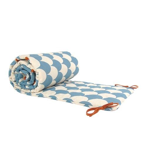 西班牙Nobodinoz有機棉寶寶防撞床圍 (藍色繽紛樂)