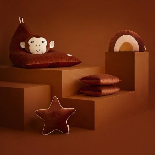西班牙Nobodinoz 小星星靠枕 (絨布、野生棕)