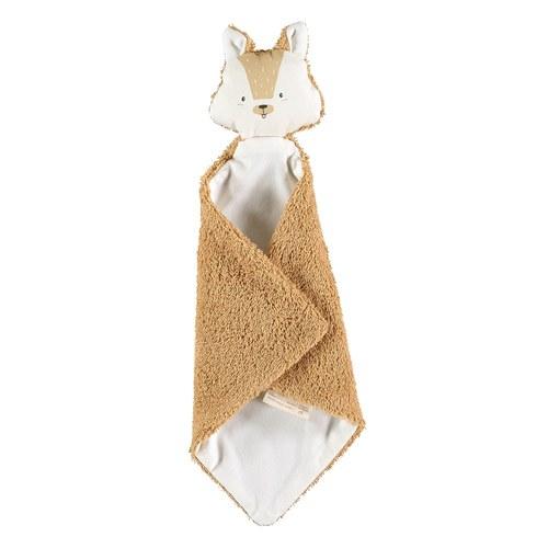 西班牙Nobodinoz 有機棉寶寶安撫巾 (森林小松鼠)