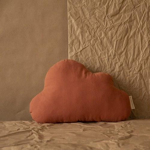西班牙Nobodinoz有機棉 奶糖雲朵靠枕 (甜蜜粉)