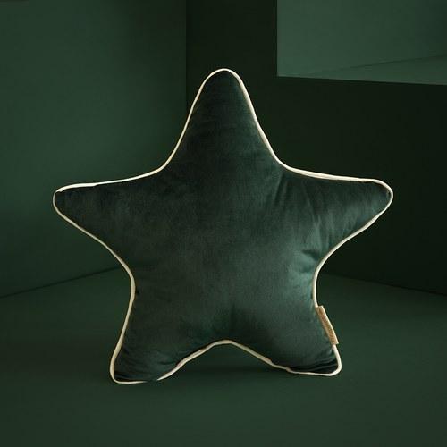 西班牙Nobodinoz 小星星靠枕 (絨布、叢林綠)