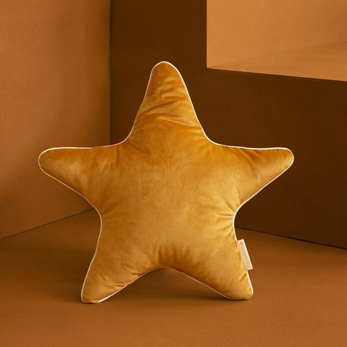 西班牙Nobodinoz 小星星靠枕 (絨布、鳳梨黃)