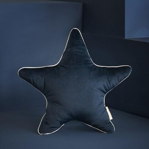 西班牙Nobodinoz 小星星靠枕 (絨布、夜晚藍)