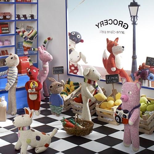 荷蘭ACP 藍底點點上衣兔子玩偶