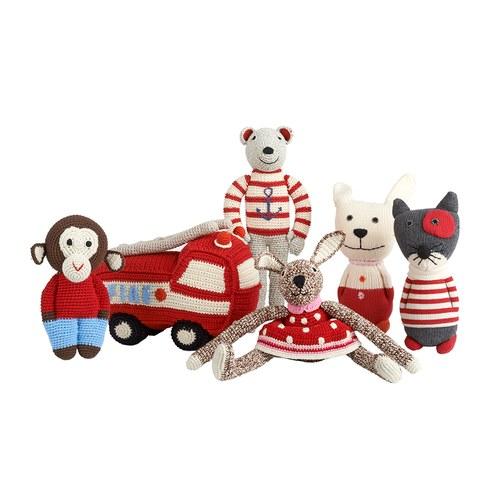 荷蘭ACP 紅底小洋裝兔子玩偶