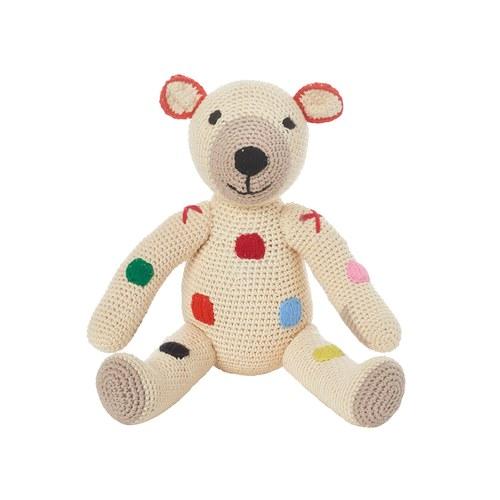 荷蘭ACP 彩色點點泰迪熊玩偶