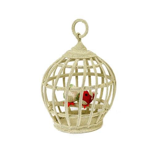 荷蘭ACP 白色鳥籠擺飾 (小)