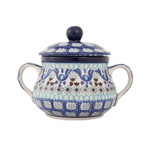 荷蘭BunzlauCastle 藍白地中海圖紋糖罐