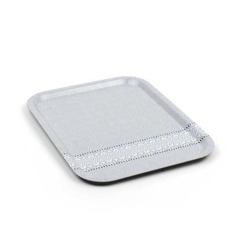 荷蘭BunzlauCastle 波浪圖紋木製托盤 (灰)