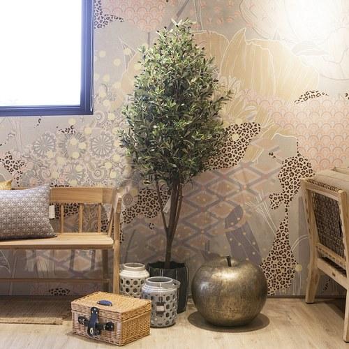 荷蘭Emerald人造植栽 橄欖樹 (黑色膠盆、高170公分)
