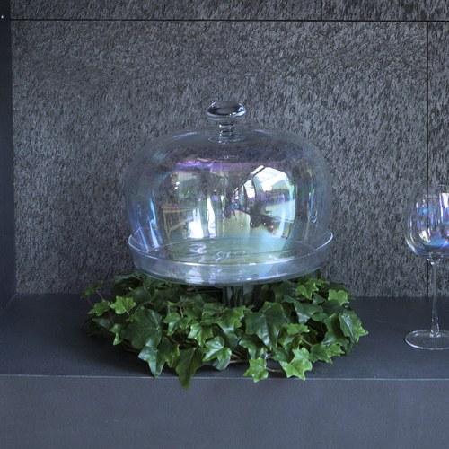 荷蘭Emerald人造植物 深綠色長春藤花環 (直徑25公分)