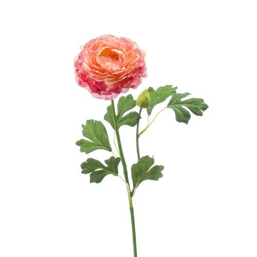 荷蘭Emerald人造花藝 橘粉色花毛茛