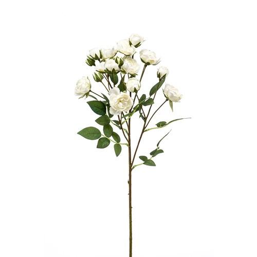 荷蘭Emerald人造花藝 白色迷你玫瑰花 (57公分)