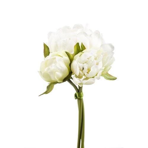 荷蘭Emerald人造花藝 奶油白牡丹花束 (23公分)