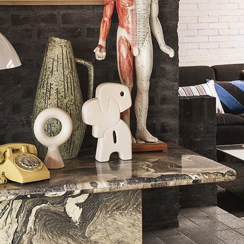 荷蘭HkLiving 幾何堆疊陶器擺飾