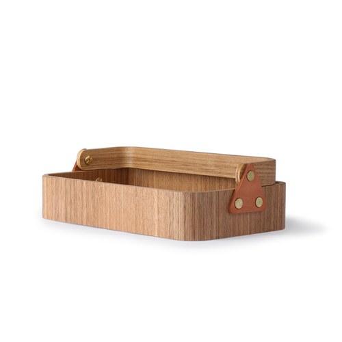 荷蘭HkLiving 日式木製把手收納提籃