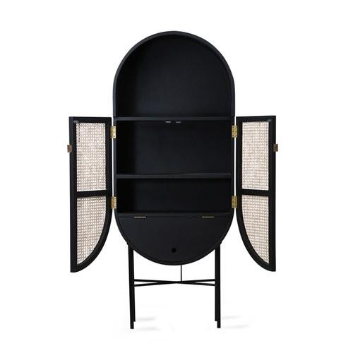 荷蘭HkLiving RETRO橢圓半開放式高櫃(黑)