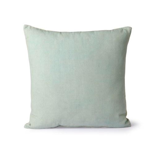 荷蘭 HkLiving 派對絨布條紋靠枕 (黃綠)