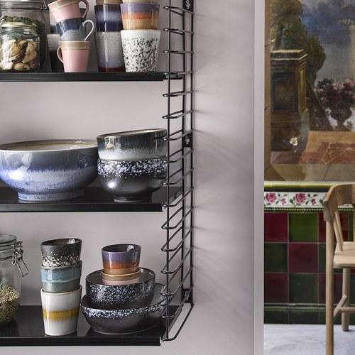 荷蘭 HkLiving 70年代寫意復古陶碗4入組