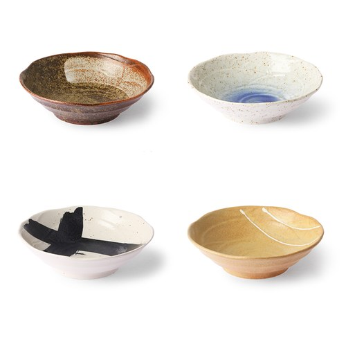 荷蘭 HkLiving 京都和風陶碗4入組