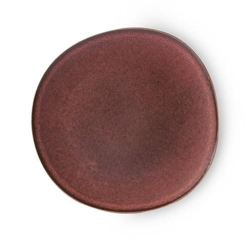 荷蘭 HkLiving 鏽蝕風格陶盤 (紅)