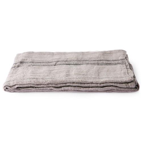 荷蘭 HkLiving 質感編織條紋桌巾 (灰)
