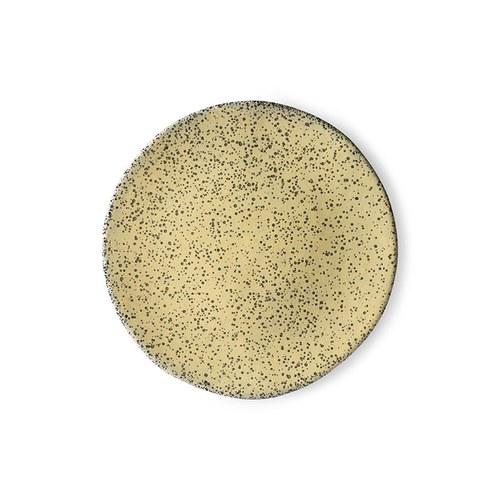 荷蘭 HkLiving 噴墨藝術餐盤2入組 (黃、小)