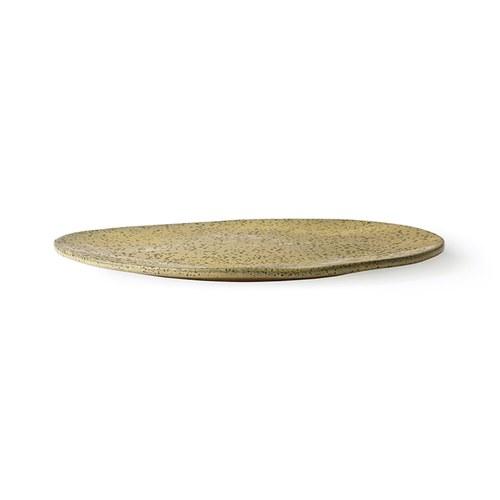 荷蘭 HkLiving 噴墨藝術餐盤2入組 (黃、大)