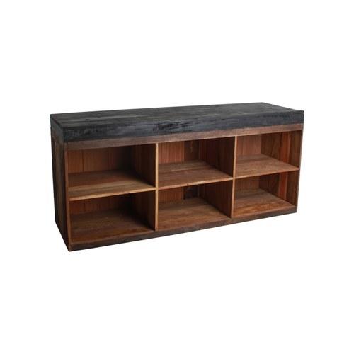 荷蘭OneWorld 古董木長形邊櫃