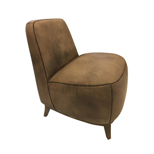 荷蘭PURE 厚底造型單人沙發椅 (棕)